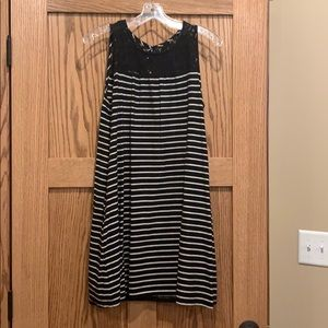 Black & White striped Tunic/Dress
